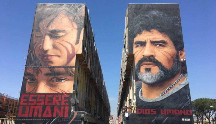 murales maradona san giovanni a teduccio napoli